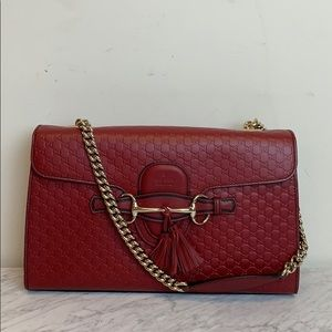 Handbags - Gucci Red Chain Link Purse